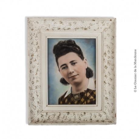 Le Grenier de la Mandoune. Tata Georgette : photo argentique rehaussée en couleurs vers 1940 - 1950