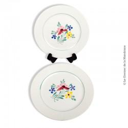 paire d 39 assiettes plates digoin sarreguemines france collection fabiola. Black Bedroom Furniture Sets. Home Design Ideas