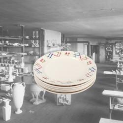 Le Grenier de la Mandoune. Lot de 6 assiettes K&G Lunéville France, Modèle TRIANON. French Vintage