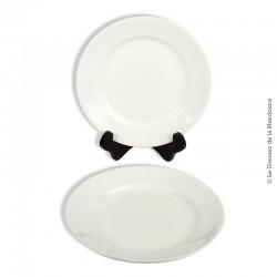 Le Grenier de la Mandoune. 2 assiettes blanches Opaque LUNEVILLE France. Fin 19ème