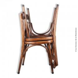 """Le Grenier de la Mandoune. Paire de chaises en bois de type """"Bistrot"""" anciennes"""