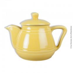 Le Grenier de la Mandoune. Théière en céramique jaune vintage
