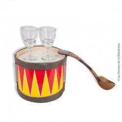 """Le Grenier de la Mandoune. 2 petits verres anciens de type """"Bistrot"""". Pour whisky, punch, armagnac, cognac,..."""