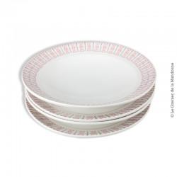 Lot de 2 Duos d'assiettes K&G Lunéville Tradition. 2 assiettes plates et 2 assiettes creuses. vers 1950 - 1960