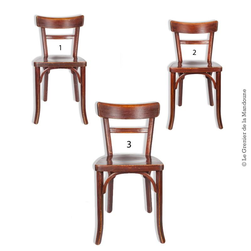 trio de chaises bistrot baumann. Black Bedroom Furniture Sets. Home Design Ideas