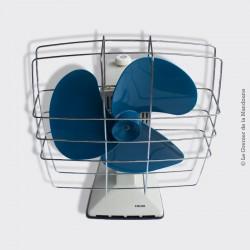 Ventilateur CALOR vintage gris clair et bleu
