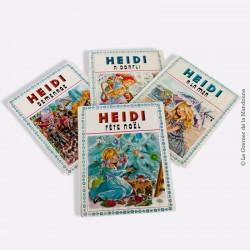 HEIDI Dessin MAURY, Lot de 4 livres : A Dorfli, Demenage, A la mer, Fête Noël