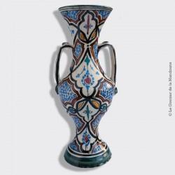 Vase à deux anses antique de SAFI poterie marocaine traditionnelle