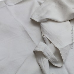 Nappe ancienne en damassé Lin/Coton à décor géométrique carré