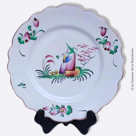 Assiette en faïence décor chinois, Islettes