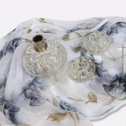 Lot de trois anciens pique fleurs, porte stylo en verre 1950, rétro vintage. French antique