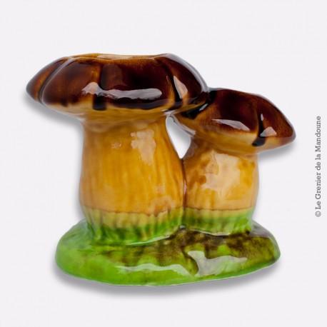 Vase champignon en faïence