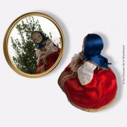 Ancien plateau miroir d'apéritif art deco vintage laiton, french design 1930