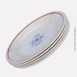 4 assiettes GIEN France - 1960 - 1971 - Décor panier fleuri