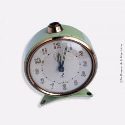 Ancien réveil JAZ, mécanique, déco vintage année 50, french antique clock