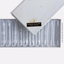 12 porte couteaux en cristal (24% de plomb) - Boîte d'origine - années 1950