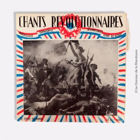 """Vinyle 45 T """"Chants révolutionnaires français"""". LE CHANT DU MONDE EP-45-3.001"""