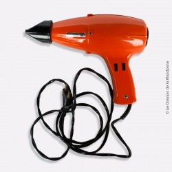 Sèche cheveux vintage MOULINEX  70's Orange. TYPE 162