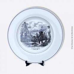 "VILLEROY & BOCH, assiette ""Passage du Danube"" 1805"