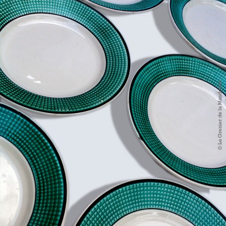 6 Assiettes plates NIDERVILLER, Made in france