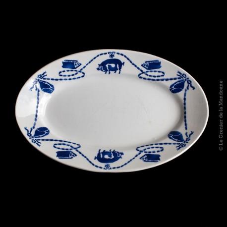 Plat Ravier porcelaine opaque F.F. Pexonne