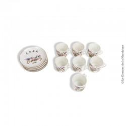 7 Anciennes tasses en porcelaine chinoise, Kaolin