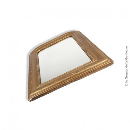 Ancien miroir, cadre bois, style art déco 57,7 x 42,5 cm