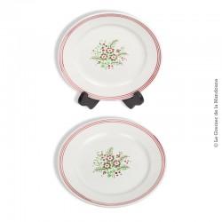2 assiettes k&G Porcelaine Opaque LUNÉVILLE France, modèle SOLOGNE