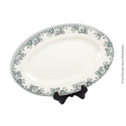 Grand Plat ovale R&A Faïence de Salins T. de Fer, modèle Montespan