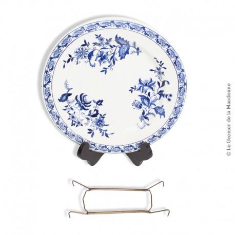 Ancienne assiette en faience de Delft, Terre de Fer SG. French Antique