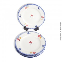 5 assiettes plates Mary-Lou Digoin Sarreguemines 1922 - 1965