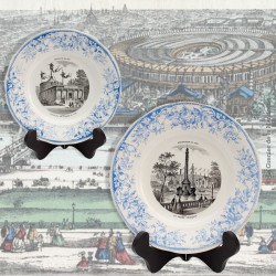 Paire d'Assiettes «Exposition de 1867» Creil et Montereau, N° 9  & N° 3  L.M. et Cie Déposé