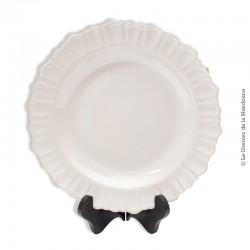 Le Grenier de la Mandoune. Plat rond 18 ème blanc, Nègrepelisse, Ardus, Faïence Midi Toulousain