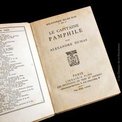 Dumas Alexandre, LE CAPITAINE PAMPHILE - Reliée Plon n° 170