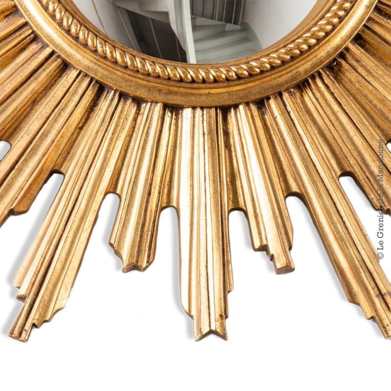 Miroir soleil dor oeil de sorci re convexe ann es 60 70 for Miroir annee 70