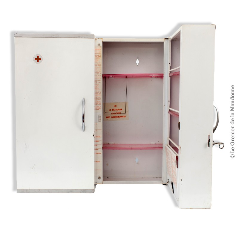 armoire pharmacie espace en m tal double porte rossignol vintage. Black Bedroom Furniture Sets. Home Design Ideas