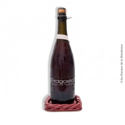 Dessous de Plat, bouteille vintage Céramique tressée, signé Vallauris