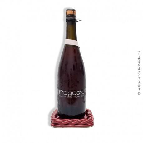 Le Grenier de la Mandoune. Dessous de Plat, bouteille vintage Céramique tressée, signé Vallauris