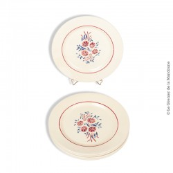 Lot de 6 Assiettes à dessert Badonviller F France 1923 Demi-porcelaine