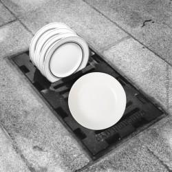 3 assiettes calottes blanches Digoin & Sarreguemines, 1920 - 1950