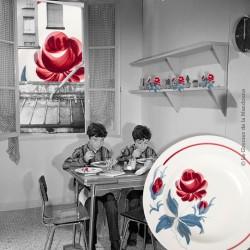 3 assiettes creuses Lunéville, modèle Lorrain, peint à la main. French Vintage