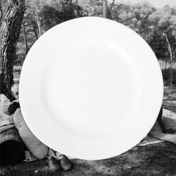 2 assiettes plates blanches Digoin & Sarreguemines n°5, 19ème siècle