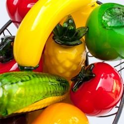 Ensemble de 10  Fruits et légumes en verre soufflé MURANO - Vintage Style