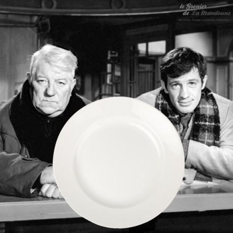 Le Grenier de la Mandoune. 4 Assiettes plates Blanches Gien France. 1960 - 1971