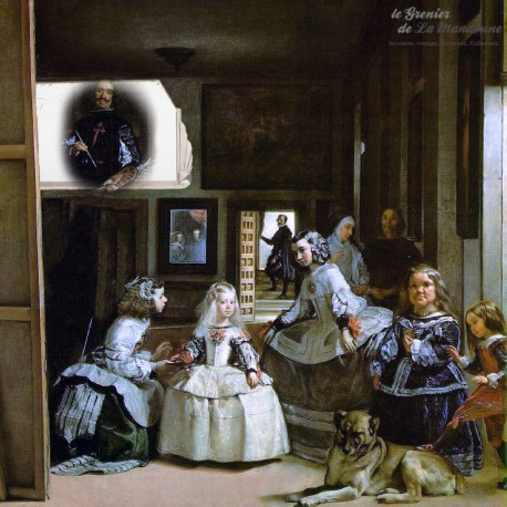 Le Grenier de la Mandoune. Ancien Miroir art déco socle en fonte argentée