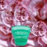"""Grand Cache-pot en plastique vert typiques des années 1950 / 1960. French Vintage. Marque """" SYLA """""""