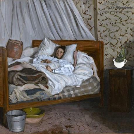Le Grenier de la Mandoune. Ancien Vase de nuit, Pot de chambre  faïencerie Digoin blanc. 1920 - 1950
