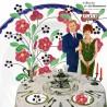 Lot de 10 Assiettes creuses, faïencerie Salins FRANCE modèle ROSEMONDE. French Vintage