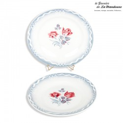 2 Assiettes anciennes DIGOIN SARREGUEMINES / Collection MARINETTE. French Antique