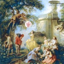 Le Grenier de la Mandoune.Grand plat rond Longchamp RC Modèle Rameau XIXème. Rare